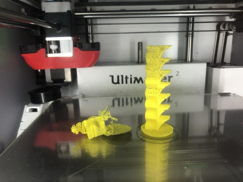 Two goes at temperature tower for Yellow PLA